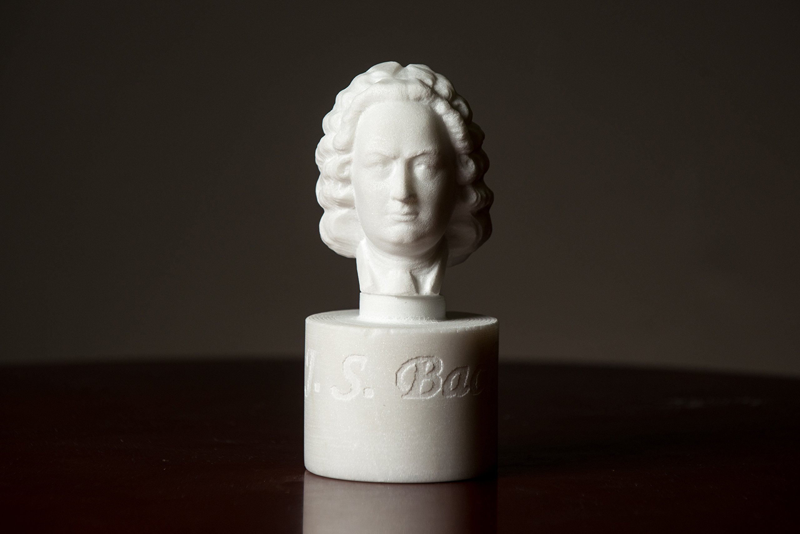 Marble Bust of J. S. Bach Carved Greek Marble Statue Figurine Artist Sculpture by Greek Marble Art