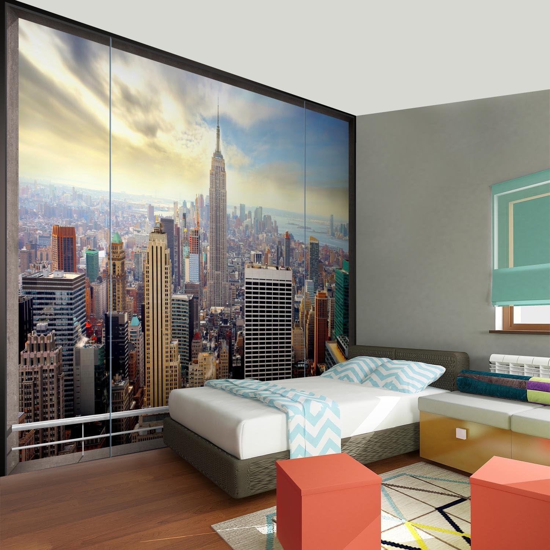 9124010a Tapisserie Decoration Murale XXL Poster Salon Appartement Photo dart Papier peint intiss/é Carte du monde