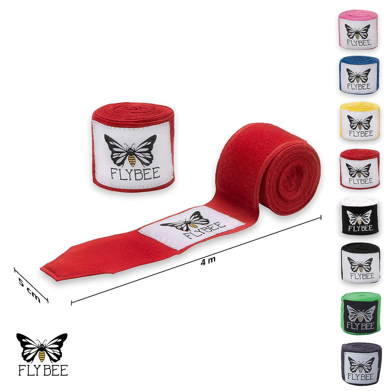 Flybee 4m Boxbandagen mit Daumenschlaufe in 8 Farben Stretch /& No Stretch
