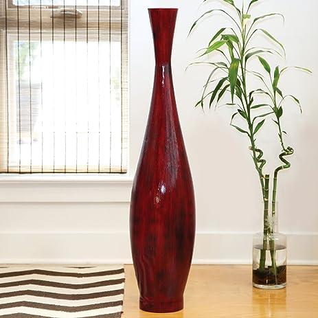 Amazon Polivaz Dv Bamboo Ch Xl Red Bamboo Decorative Vase