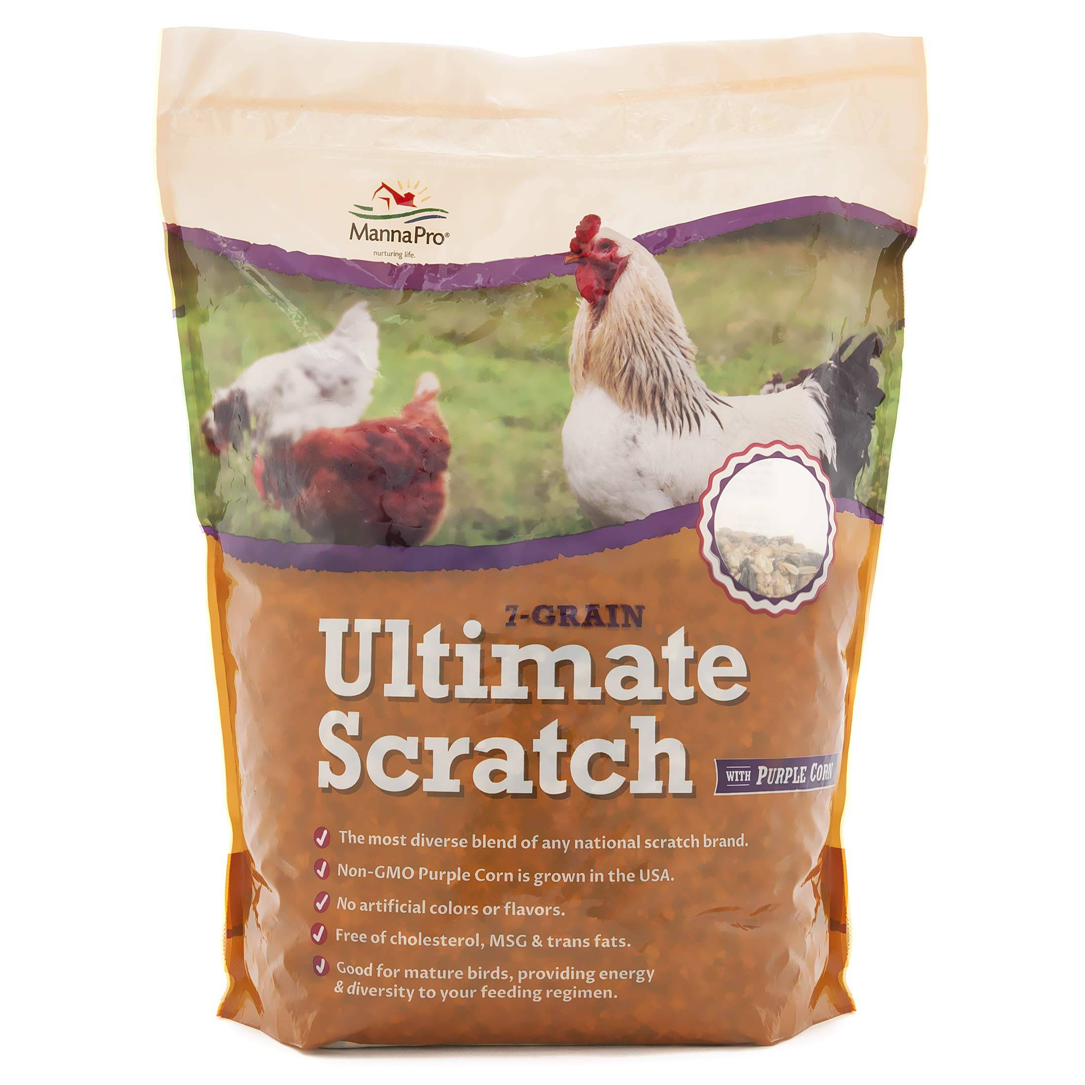 Manna Pro 1000853 Chickens, 10 lb 7 Grain Ultimate Scratch with Purple Corn, Original Version by Manna Pro