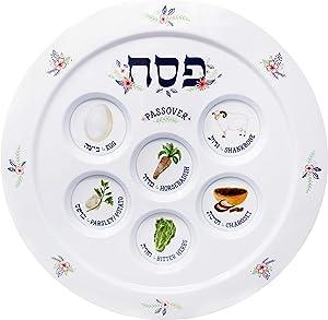 Passover Seder Plate Melamine Seder Plate Spring Garden Design 12