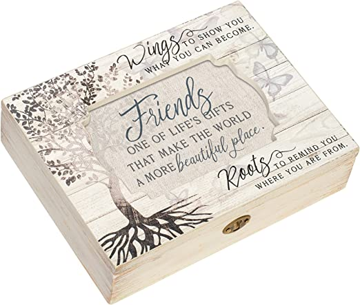 Cottage Garden Friends Make World Beautiful Tree Decoupage Music Box reproduce que es para los amigos: Amazon.es: Hogar