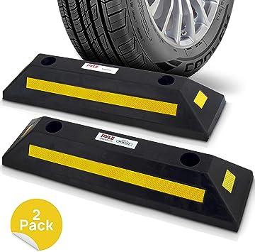 Amazon Com Garage Floor Stops For Vehicles 2pc Heavy Duty