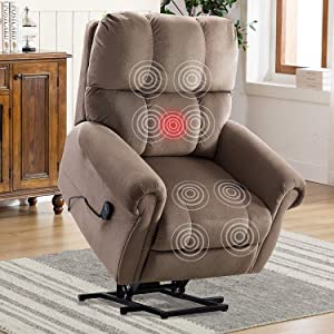 CANMOV Power Lift Recliner Chair with Heat & Massage