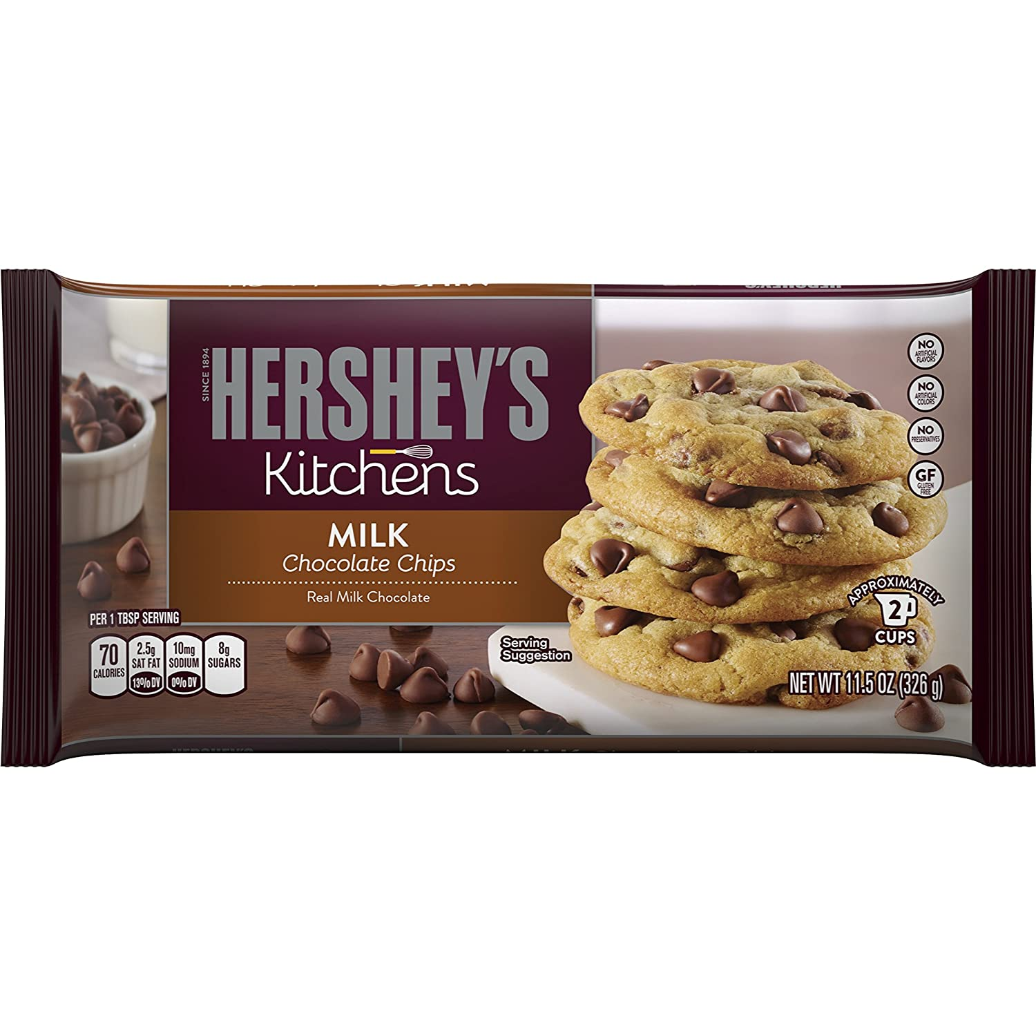 Amazon.com : HERSHEY'S Kitchens Baking Pieces, Milk Chocolate ...
