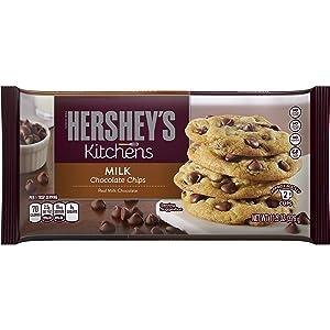HERSHEY'S Kitchens Baking Milk Chocolate Chips, Baking supplies, 11.5 oz. bag (12 pack)