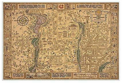 Amazon.com: Cornell University - Campus MAP circa 1928 - measures 36 ...