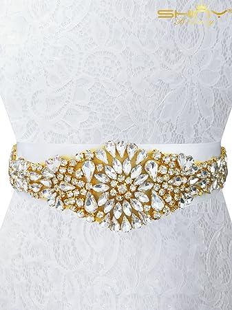 Shinybeauty Strass Applikation Perlen Perlen Strass Gürtel
