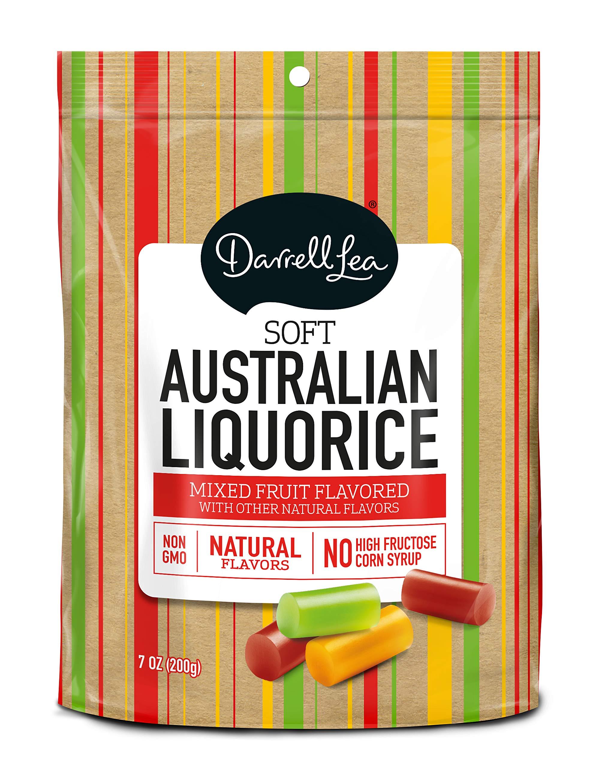 Soft Australian Mixed Fruit Licorice - Darrell Lea 7oz Bag - NON-GMO, NO HFCS, Vegetarian & Kosher   America's #1 Soft Eating Licorice Brand!