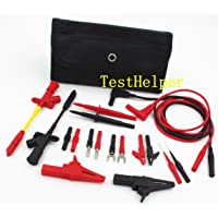 TestHelper TH-10-KIT Insulation 4mm Banana Test Lead Probe Clip Lantern Fork Tip Spring Crocodile Alligator Adaptor…