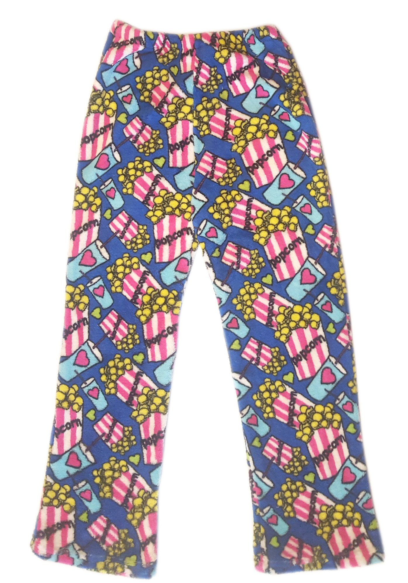 Confetti and Friends Fuzzy Plush Pajama Pants - Popcorn Love - 5/6 by Confetti and Friends (Image #1)