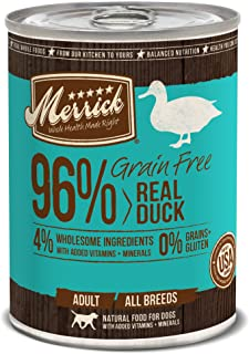 product image for Merrick Grain Free 13.2-Ounce Real Duck Dog Food, 12 Count Case