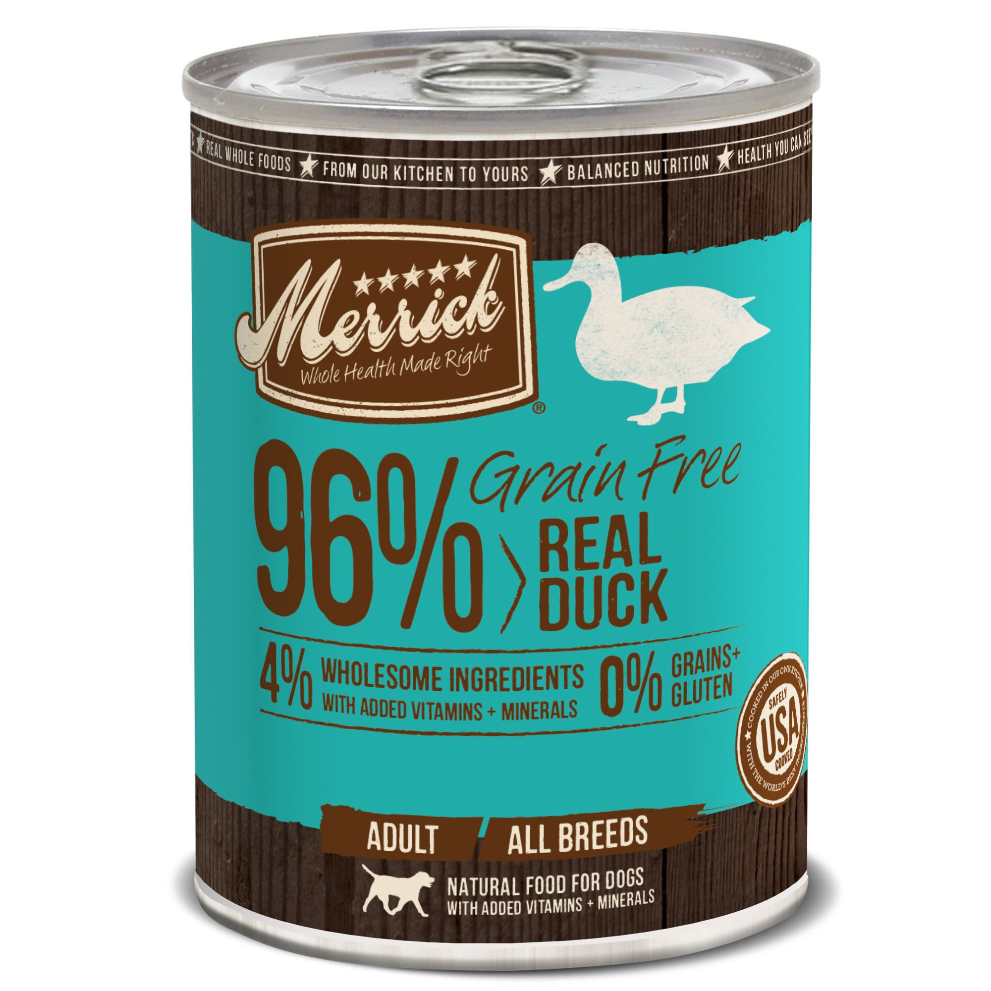 Merrick Grain Free 13.2-Ounce Real Duck Dog Food, 12 Count Case by Merrick (Image #1)