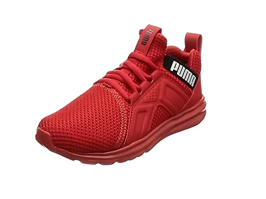 PUMA Enzo Weave Kinder Sneaker High Risk Red Puma Black