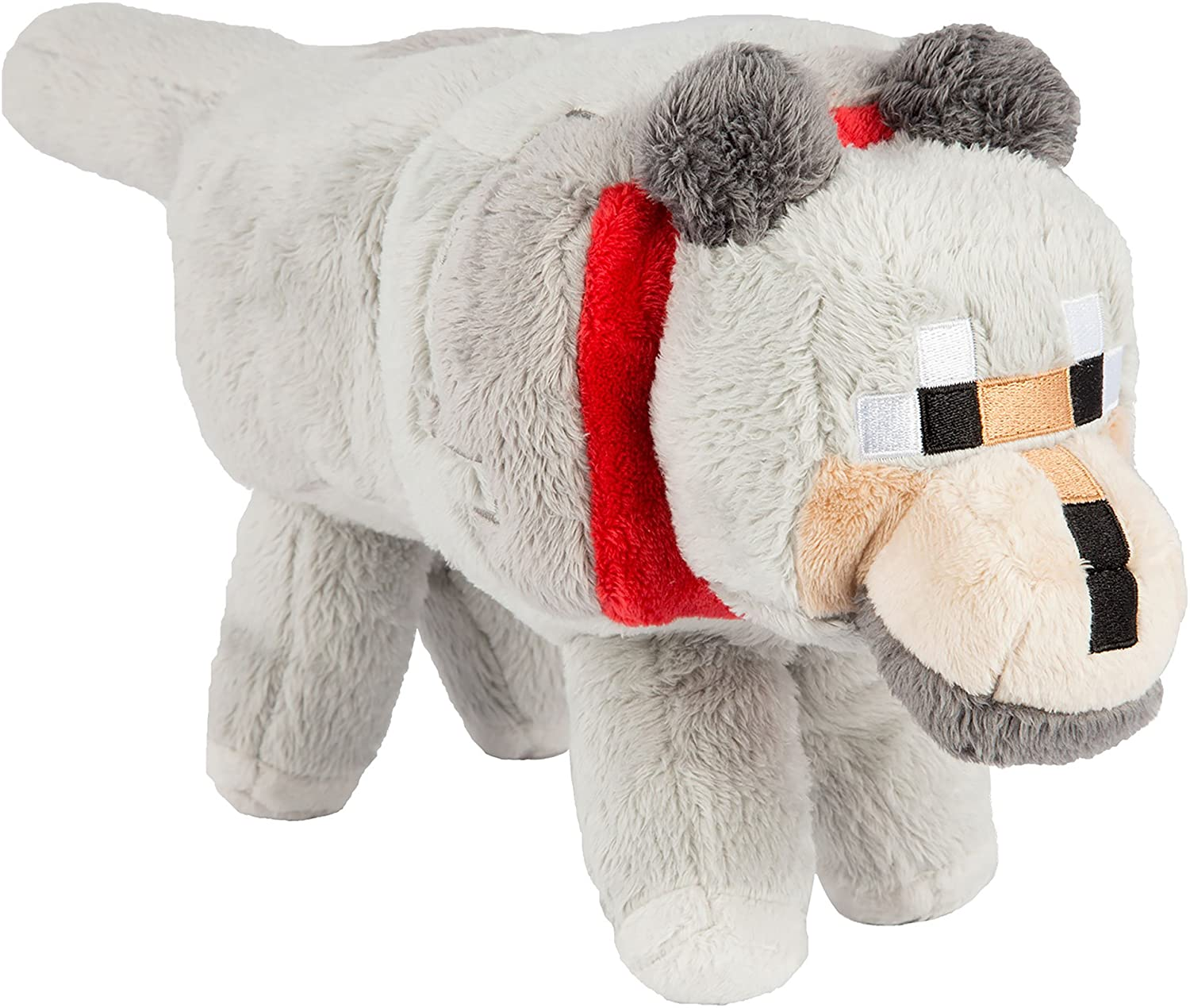 """JINX Minecraft 8"""" Wolf Plush Stuffed Toy (Unboxed with Hang Tag)"""