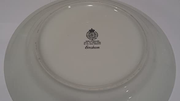 Amazon.com | Royal Worcester Evesham Gold Fine Porcelain Dinner Plate, Oven  To Table Ware; Fine China Made In England.: Dinner Plates