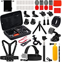 Luxebell Accessories Kit for AKASO EK5000 EK7000 4K WiFi Action Camera Gopro Hero 7 6 5 Fusion Session 5 Black Sliver Hero 4/3+/3/2/1 (22-in-1)