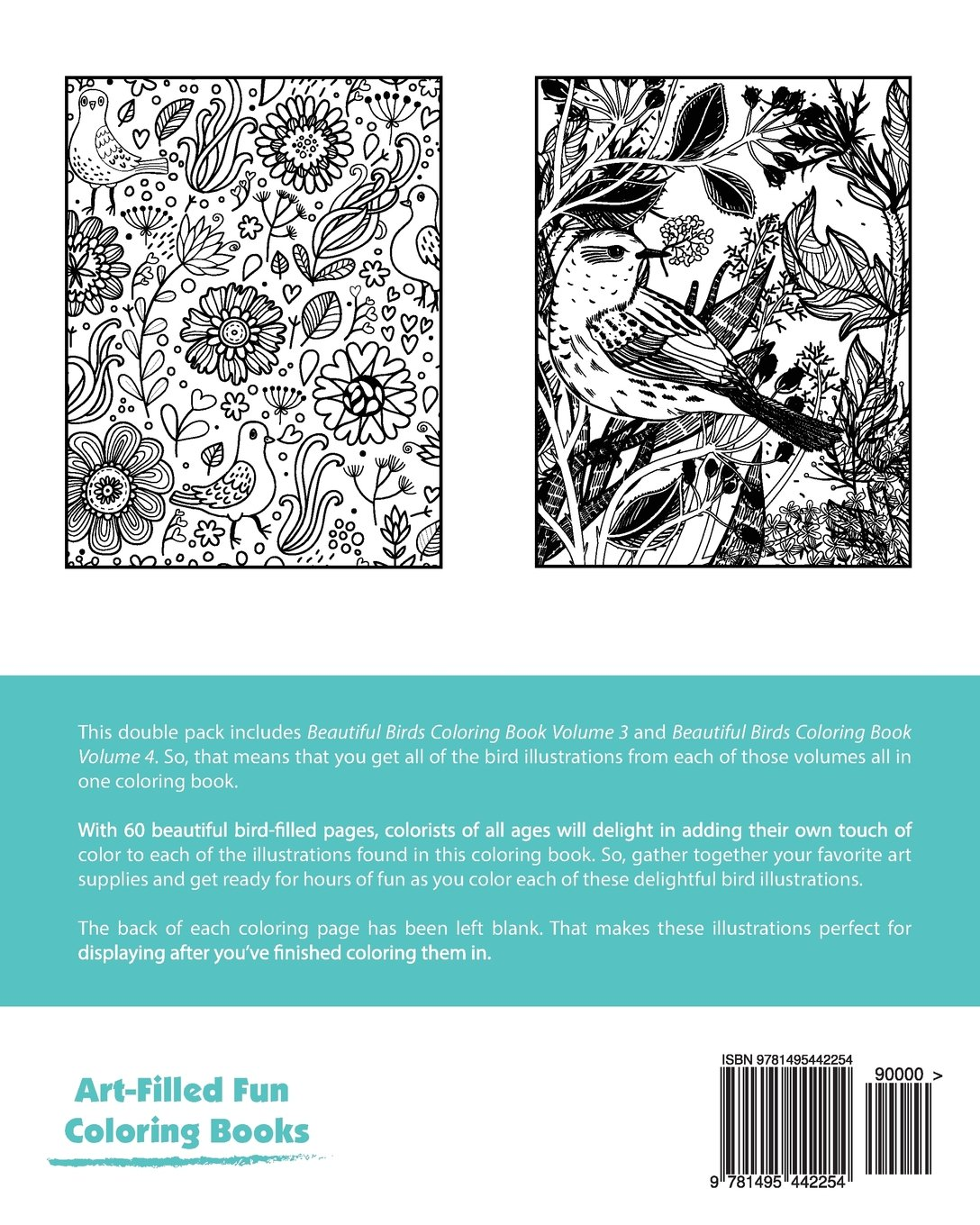 Beautiful Birds Coloring Book Double Pack (Volumes 3 & 4) (Art ...