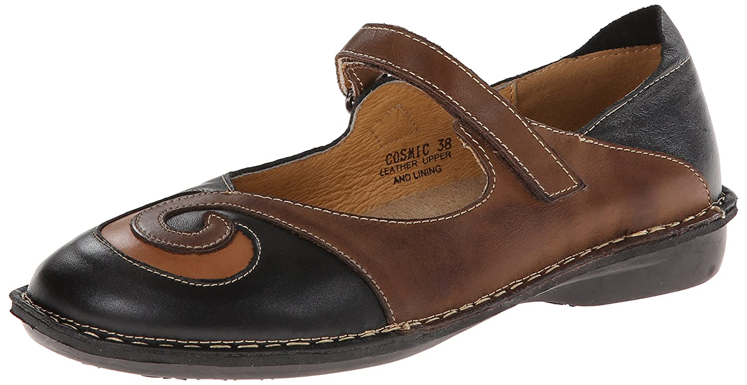 Spring Step Women's Cosmic Mary Jane Flat B005C2LA5K 41 EU/9.5-10 M US|Black
