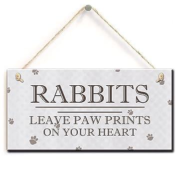 Amazon.com: Vintage conejos chapa conejos dejan huellas en ...