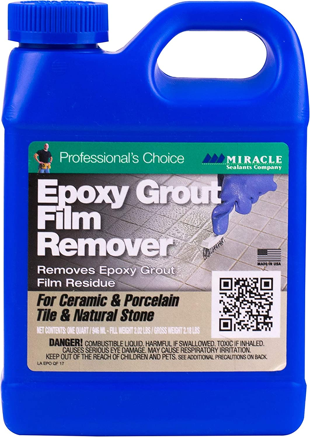 Miracle Sealants Eporemqt6 Epoxy Grout Film Remover Cleaners Quart Tile Cleaners Amazon Com