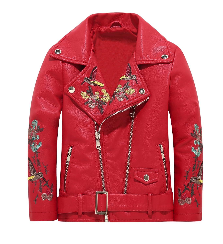 The Twins Dream Girls Leather Jacket Kids Leather Jackets Boys Motorcycle Jacket Girls Coat