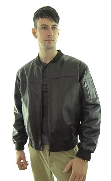 2ff73affd180 Radfordleathers Men's Ma1 Leather Bomber Jacket: Amazon.co.uk: Clothing