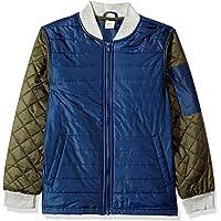 Crazy 8 Big Boys' Fashion Bomber Jacket, Blue/Green
