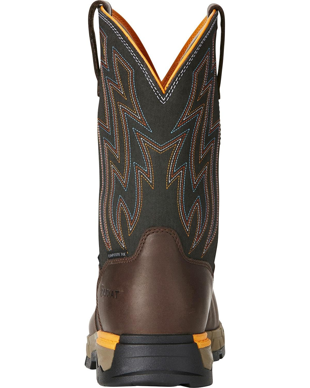 Ariat Men's Rebar Flex H2o Western Work Boot Composite Toe Brown 7.5 EE by Ariat (Image #4)