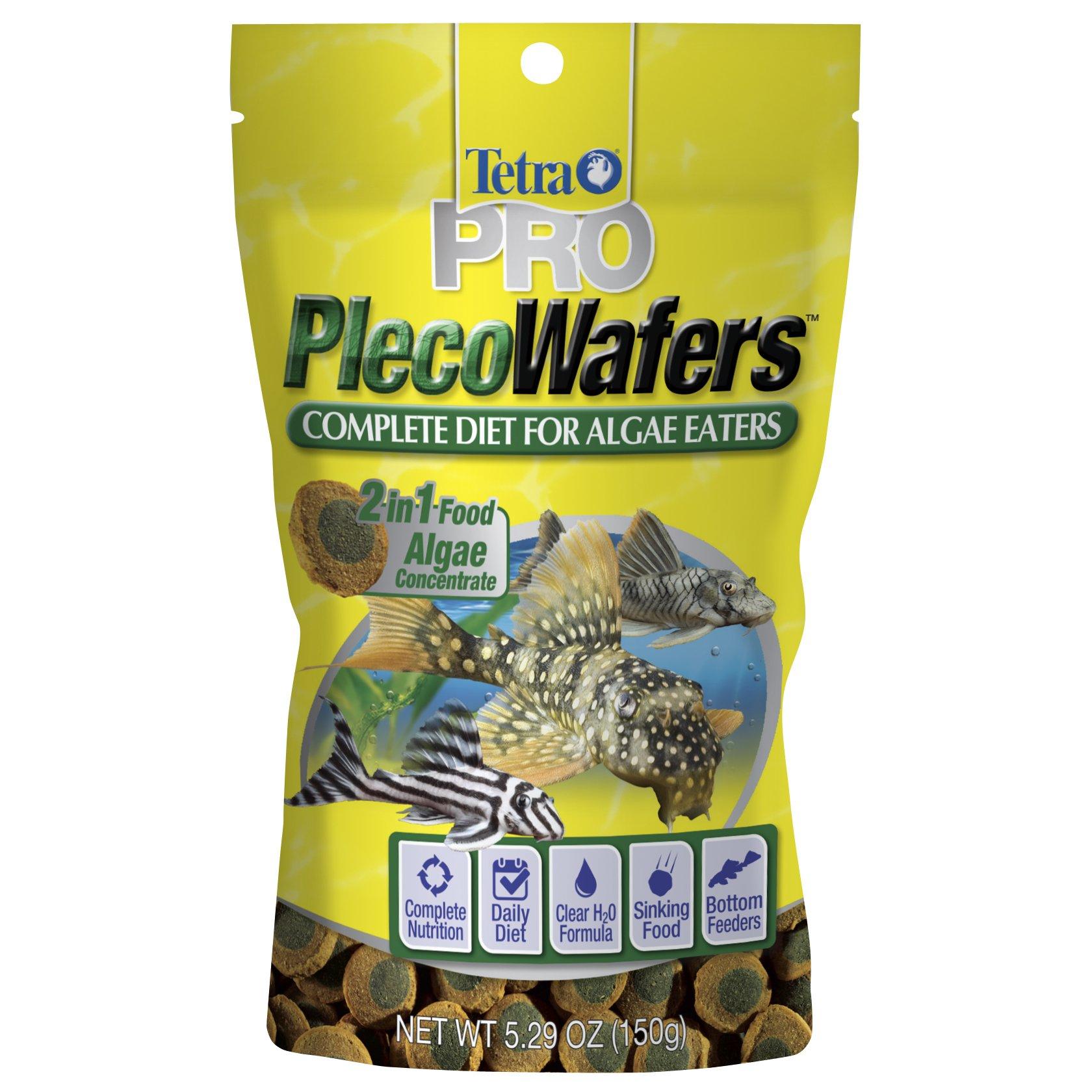 Tetra PRO PlecoWafers for Algae Eaters, 5.29-Ounce