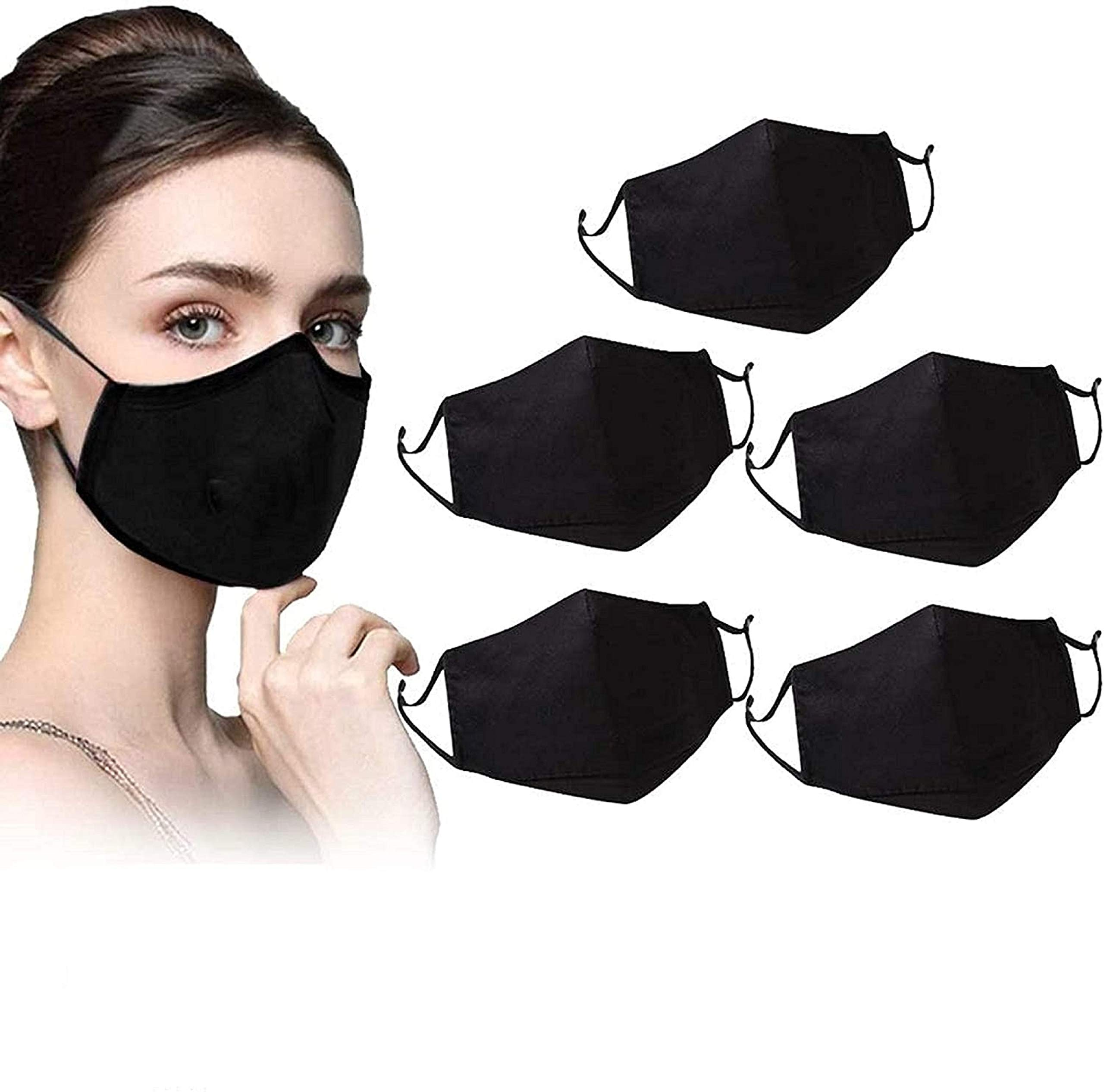 CUQOO 6x Anti Dust Mask Face Mouth Mask, Fashion Reusable Washable Outdoor Unisex Mask, Anti-Pollution Facemask