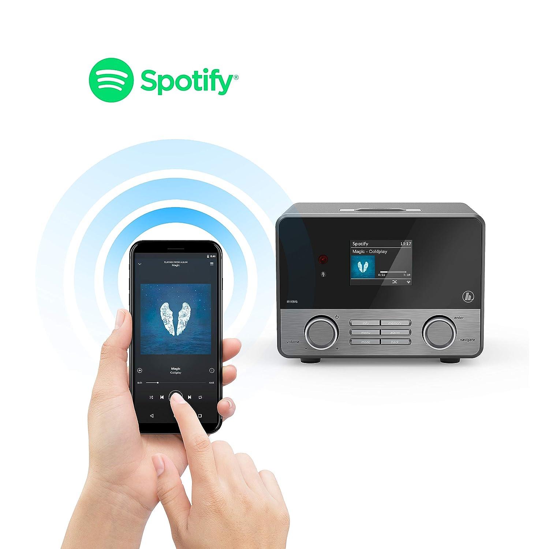 """Wifi Streaming beleuchtetes 2 6"""" Farbdisplay integr Radio Wecker mit Fernbe nung gratis UNDOK Radio App schwarz Amazon Heimkino TV & Video"""