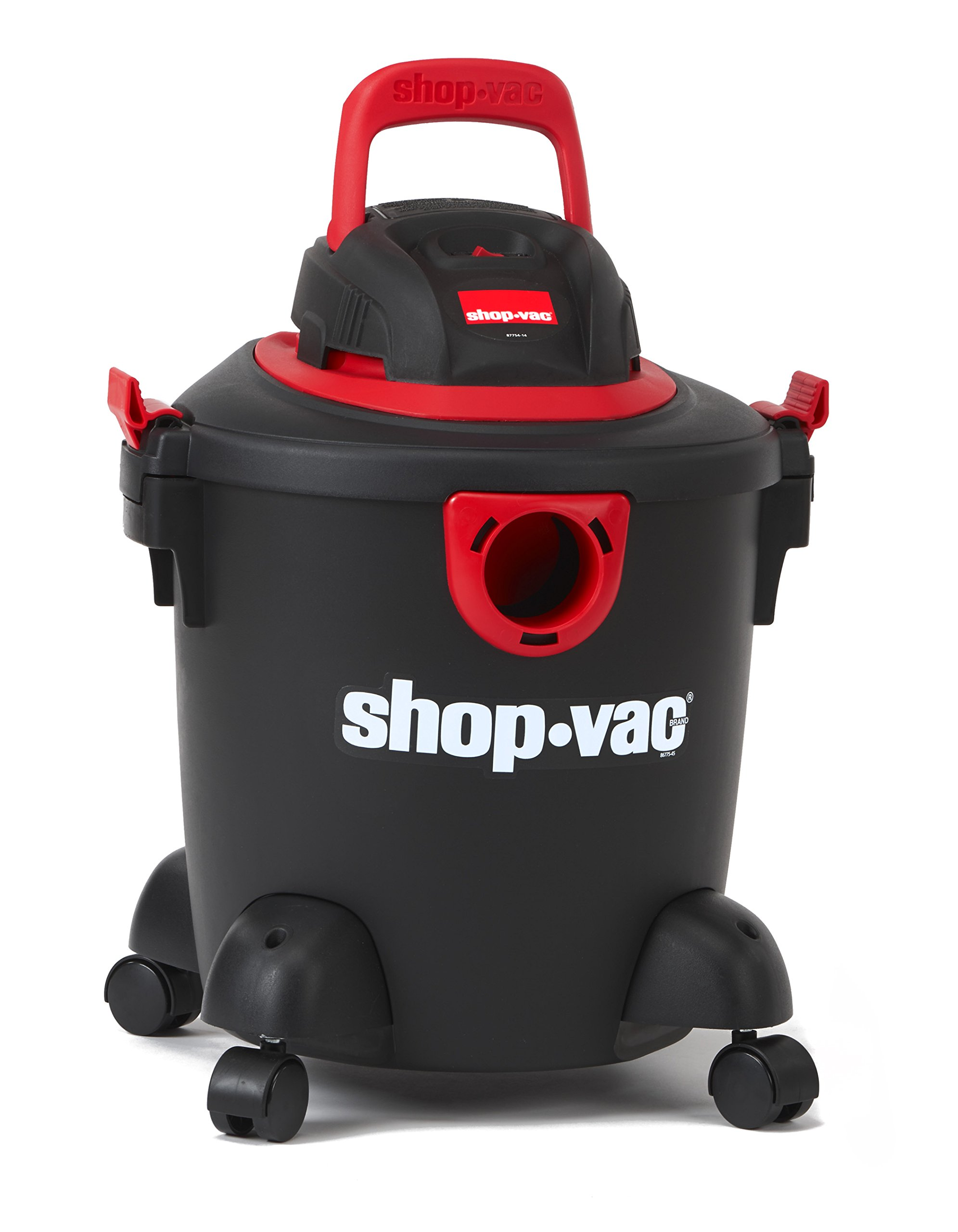 Shop-Vac 2035000 5 gallon 2.0 Peak HP Classic Wet Dry Vacuum Black/Red with Onboard Cord Tool Storage & Multifunction Accessories, Uses Type S Disc Filter & Type R Foam Sleeve by Shop-Vac