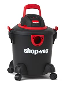 Shop-Vac 2035000 5 gallon 2.0 Peak HP Classic Wet Dry Vacuum Black/Red with Onboard Cord Tool Storage & Multifunction Accessories, Uses Type S Disc Filter & Type R Foam Sleeve