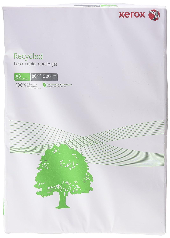 Xerox 003R91166 - Risma di carta riciclata per stampanti e fotocopiatrici, formato DIN A3, 80 g/m², 500 fogli, colore bianco