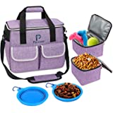 Dog Travel Bag,Multi-Function Pocket, Food Container Bag,Large Storage Capacity for Supplies and Accessories,Weekend Pet Trav