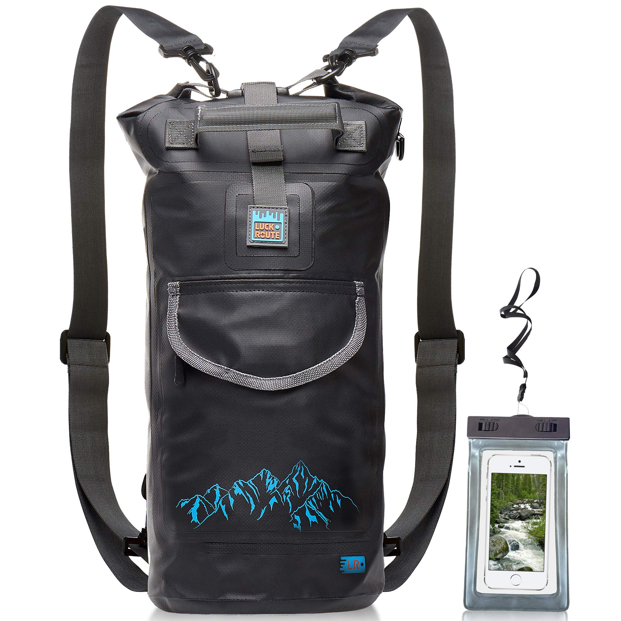 Luck route Waterproof Dry Bag with Backpack Straps and Pockets ... bbf5762e30a76