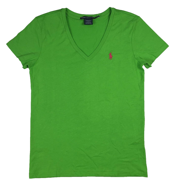 55edae795 Amazon.com  Ralph Lauren Sport Women s V-neck Pony Logo T-shirt ...