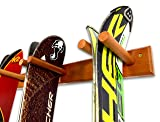 Timber Ski Wall Rack - 4 Pairs of Skis Storage