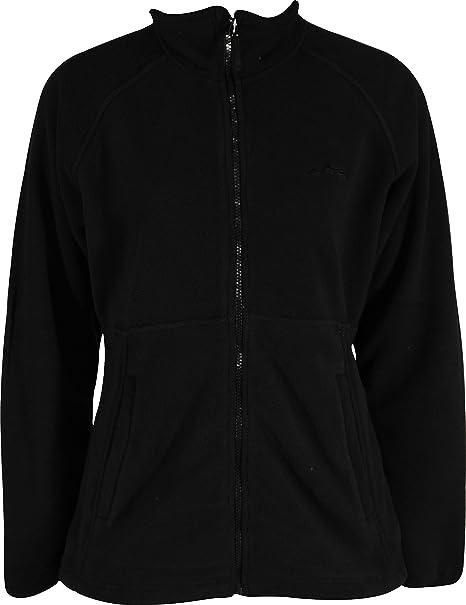339fdac34 Wynnster Alviana Womens Fleece Jacket Black Soft Brushed Fabric ...