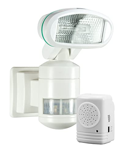 Nightwatcher nw300 robotic security light with wireless alarm white nightwatcher nw300 robotic security light with wireless alarm white aloadofball Choice Image