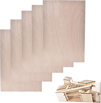 Amazon Com 1 5mm 300 Mm 200 Mm Thin Basswood Sheet Unfinished Plywood Wood Piece For Crafts