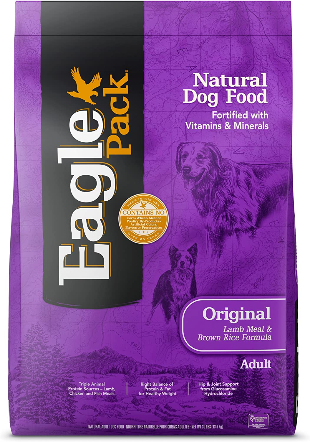 Eagle Pack Natural Dry Dog Food Lamb & Rice