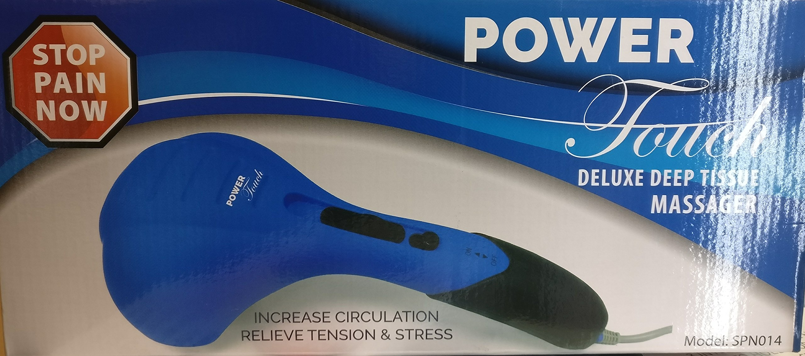 Power Touch Deluxe Deep Tissue Massager Blue