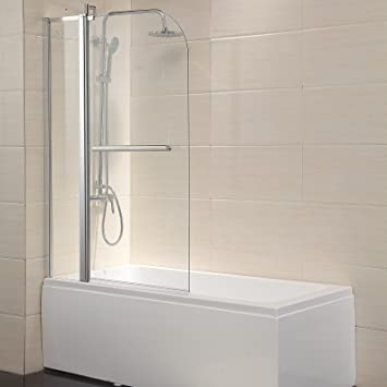 Perfect Mecor Bathtub Shower Door Hinged Frameless 1/4u0026quot; Clear Glass Tub Door  With Handle