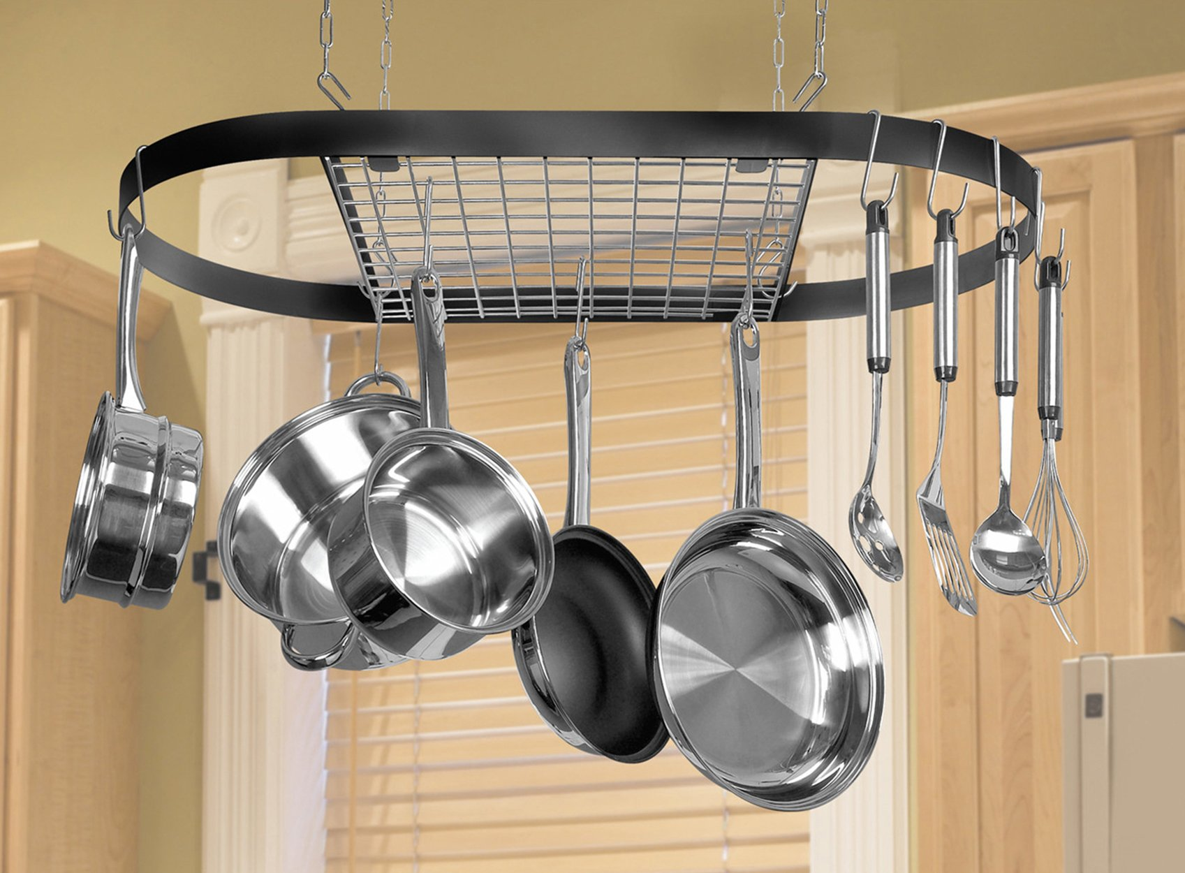 Kinetic Classicor Series Wrought-Iron Oval Pot Rack 12021 by Kinetic (Image #2)