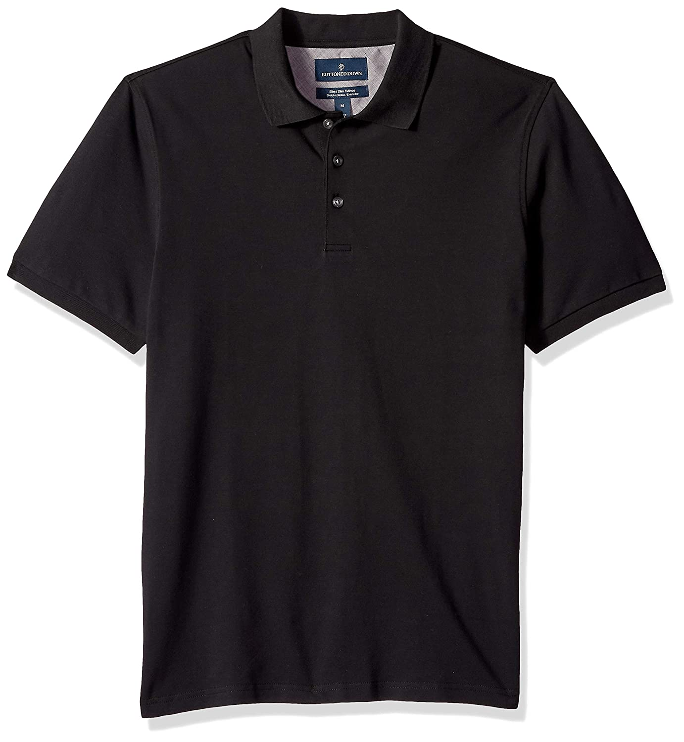 01c0d77b9642 Amazon.com: Amazon Brand - BUTTONED DOWN Men's Slim-Fit Supima Cotton  Stretch Pique Polo Shirt: Clothing