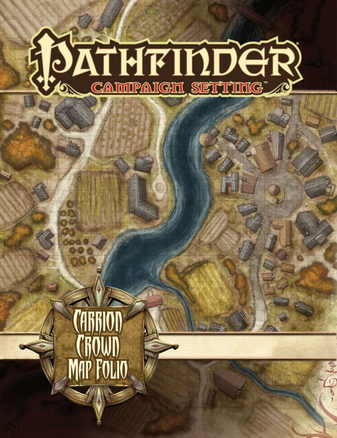 Amazon Com Pathfinder Campaign Setting Carrion Crown Poster Map