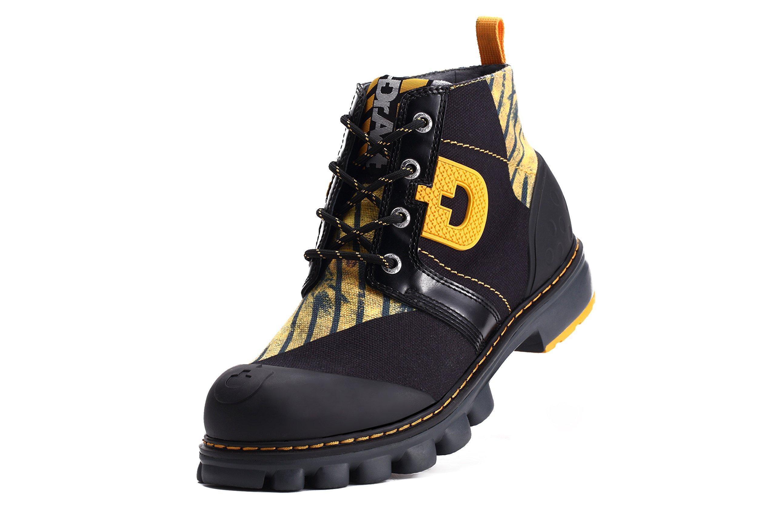 Dr.Act Men's Scud Travel Canvas Boots Black (10)